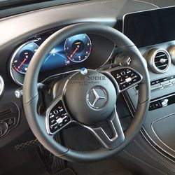 GLC Facelift interior with digital instruments and MBUX system